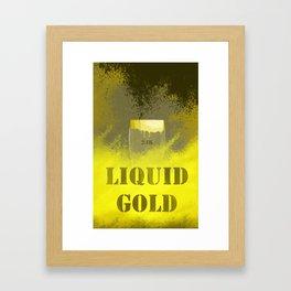 liquid gold Framed Art Print