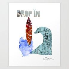 Drop In Art Print