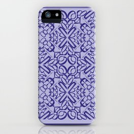 Courage of her Conviction Tiled - Violet Lavender iPhone Case