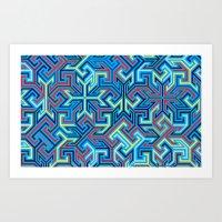 BlueAmazement Art Print
