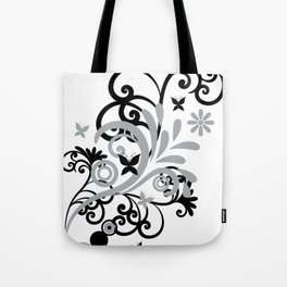 Butterfly Flourish GRY Tote Bag