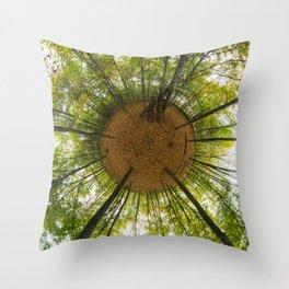 Le bois de Vincennes à l'automne // The forest of Vincennes in autumn Throw Pillow