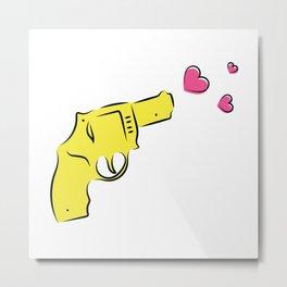 Yellow Gun Metal Print