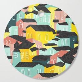 Rainbow city Cutting Board