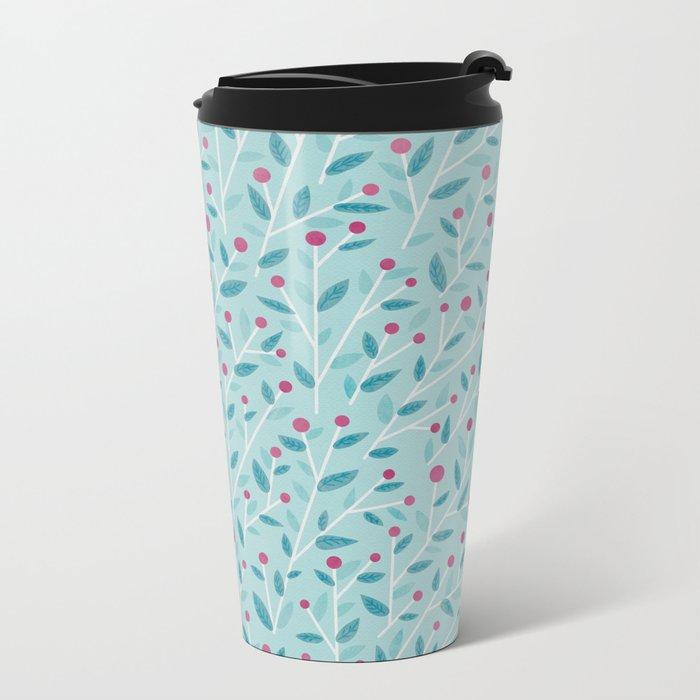 Merry Berries Metal Travel Mug