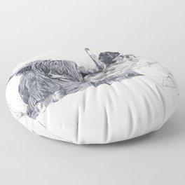 A Wandering Bull (Taurus) Floor Pillow