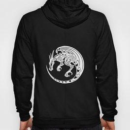 Tribal dragon - white Hoody