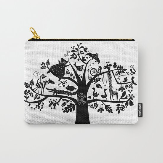 :) animals on tree Carry-All Pouch