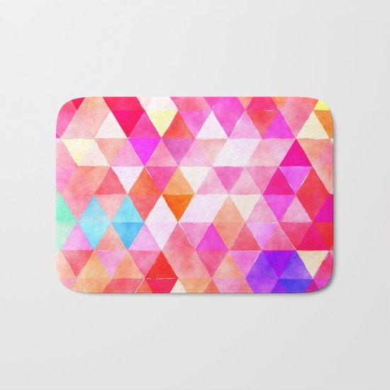 Vibrant Triangles Pattern 03 Bath Mat
