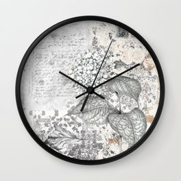 Hydrangea Collage Wall Clock