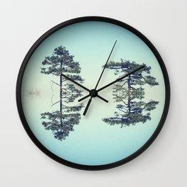 Sky Trees Wall Clock