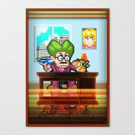 Pixel Art series 8 : My Mayor Canvas Print