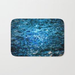 Water Color - Blue Bath Mat
