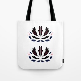 Ornaments whiteblack Tote Bag
