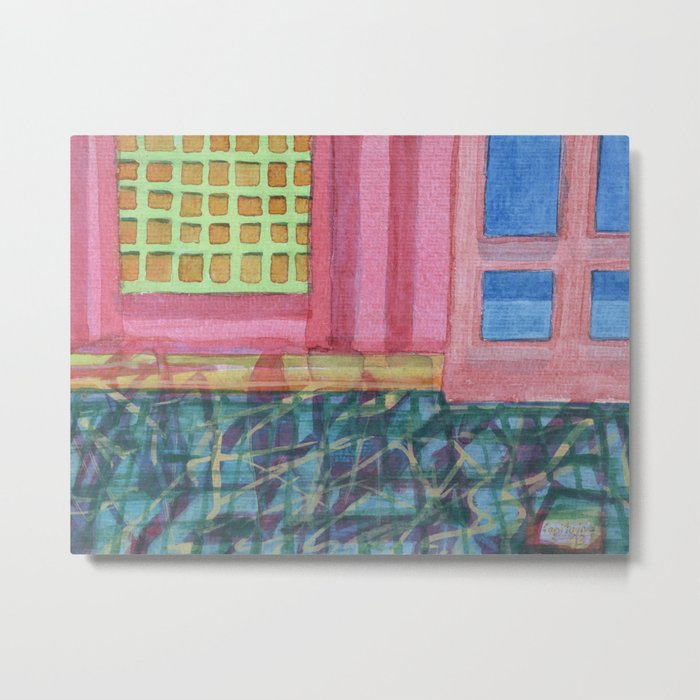 Interieur with pink Wall Metal Print