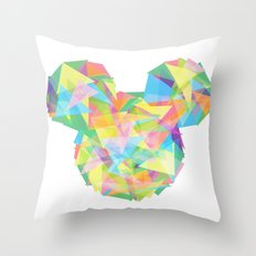 Mickey's pieces  Throw Pillow