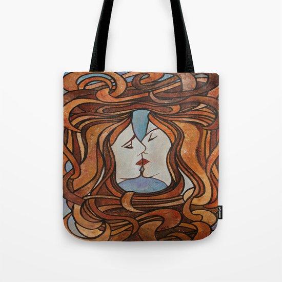 Lesbian Kiss (Art Nouveau Style) Tote Bag