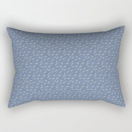 The great Sperm migration on blue Rectangular Pillow