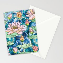 Water Lilies Stationery Cards