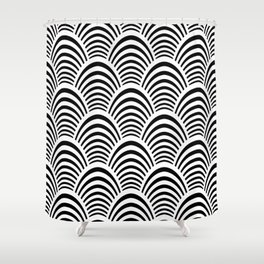 Art Deco Palm Pattern Shower Curtain