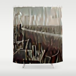 Leipzig Highrise Restaurant Shower Curtain