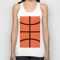 basketball Tank Tops featuring Basketball by Rorzzer