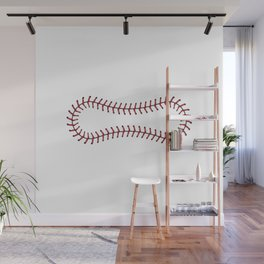 Baseball Lace Background Wall Mural