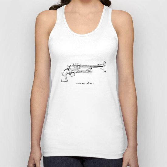 Make music, not war. Unisex Tank Top