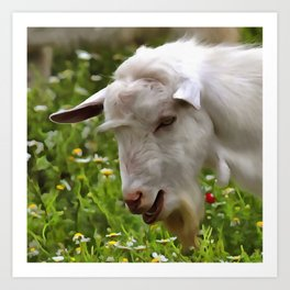 Goat A Load To Talk About Art Print