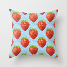 the strawberrys pattern Throw Pillow