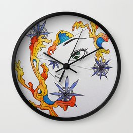 It's only fire. It's only water. It's only love. Wall Clock