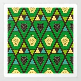 Royal pattern Art Print