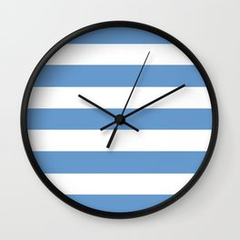 Livid - solid color - white stripes pattern Wall Clock