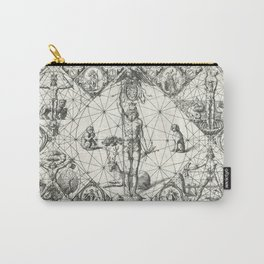Vintage Zodiac and Elements Chart, Year 1597 Carry-All Pouch