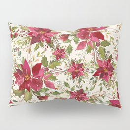 POINSETTIA - FLOWER OF THE HOLY NIGHT Pillow Sham