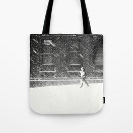 Snow Surfer Tote Bag
