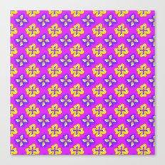 Pop pansy pattern! Canvas Print