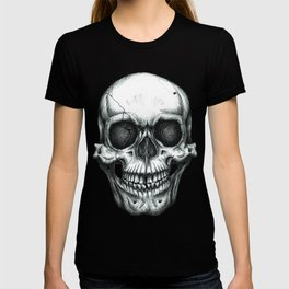 Gothic Skull Illustrative Design T-shirt