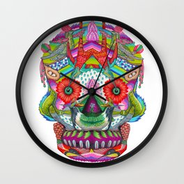 Hummingbird Skull II Wall Clock