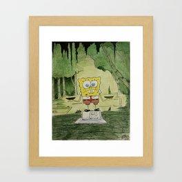 Midnight in the Garden of Sponge and Evil Framed Art Print