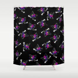 FRANKEN VAMP BOWIE KITTY pattern Shower Curtain