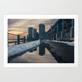 NYC relection Art Print