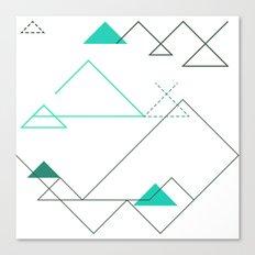Tree Angle Green Canvas Print