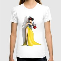 snow white T-shirts featuring Snow White by Greg Guillemin