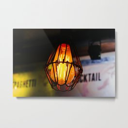 Edison Light Bulb in a Bar in Thailand Metal Print