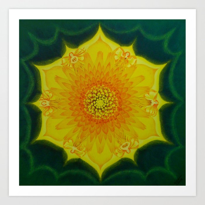 Dandelion Sun / Võilillepäike Art Print