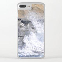 SPLASHING OCEAN WAVE Clear iPhone Case