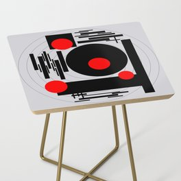 Optical Red Side Table