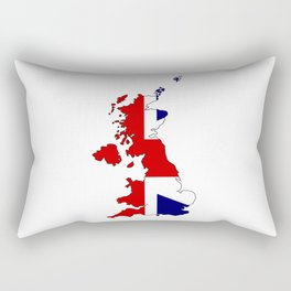 United Kingdom Map and Flag Rectangular Pillow