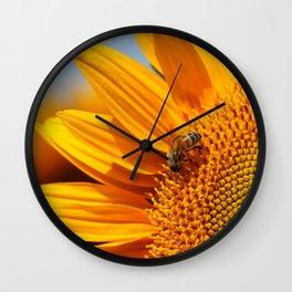 Sunflower & Bee Wall Clock